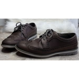 TIMBERLAND Oxfords 8 Dark Brown Leather Wingtips